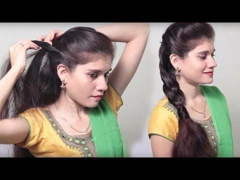3 Different Party Hairstyle At Last Minute Indian Wedding