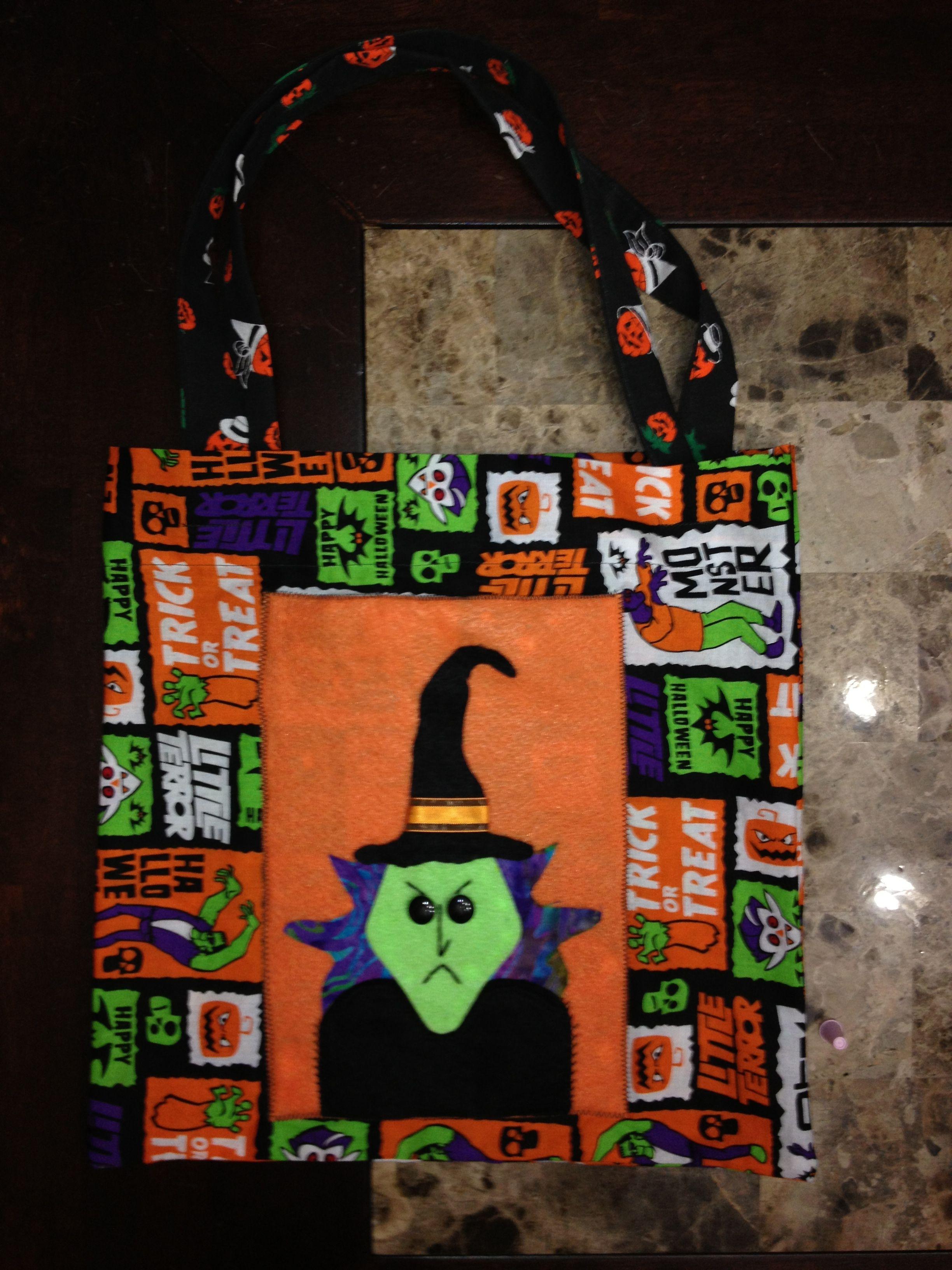 DIY halloween trick or treat bag Diy halloween trick or
