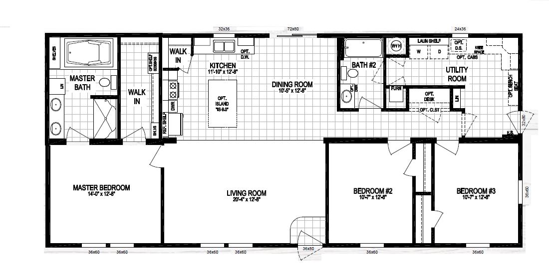 The Roosevelt By Schult In 2020 Floor Plans 3 Bedroom Home