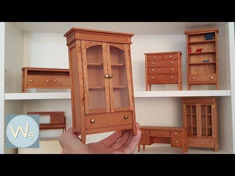 DIY Display Cabinet - Traditional Style / Furniture in Miniature - YouTube #miniaturefurniture