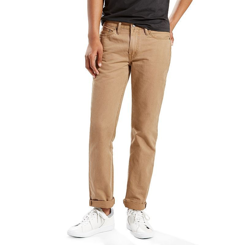 34d00b0a43a Men's Levi's® 514™ Straight Padox Canvas Pants, Size: 42X32, Brown Oth
