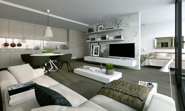 einzimmerwohnung einrichten zimmer einrichten ideen kleine wohnung einrichten - Einzimmerwohnung
