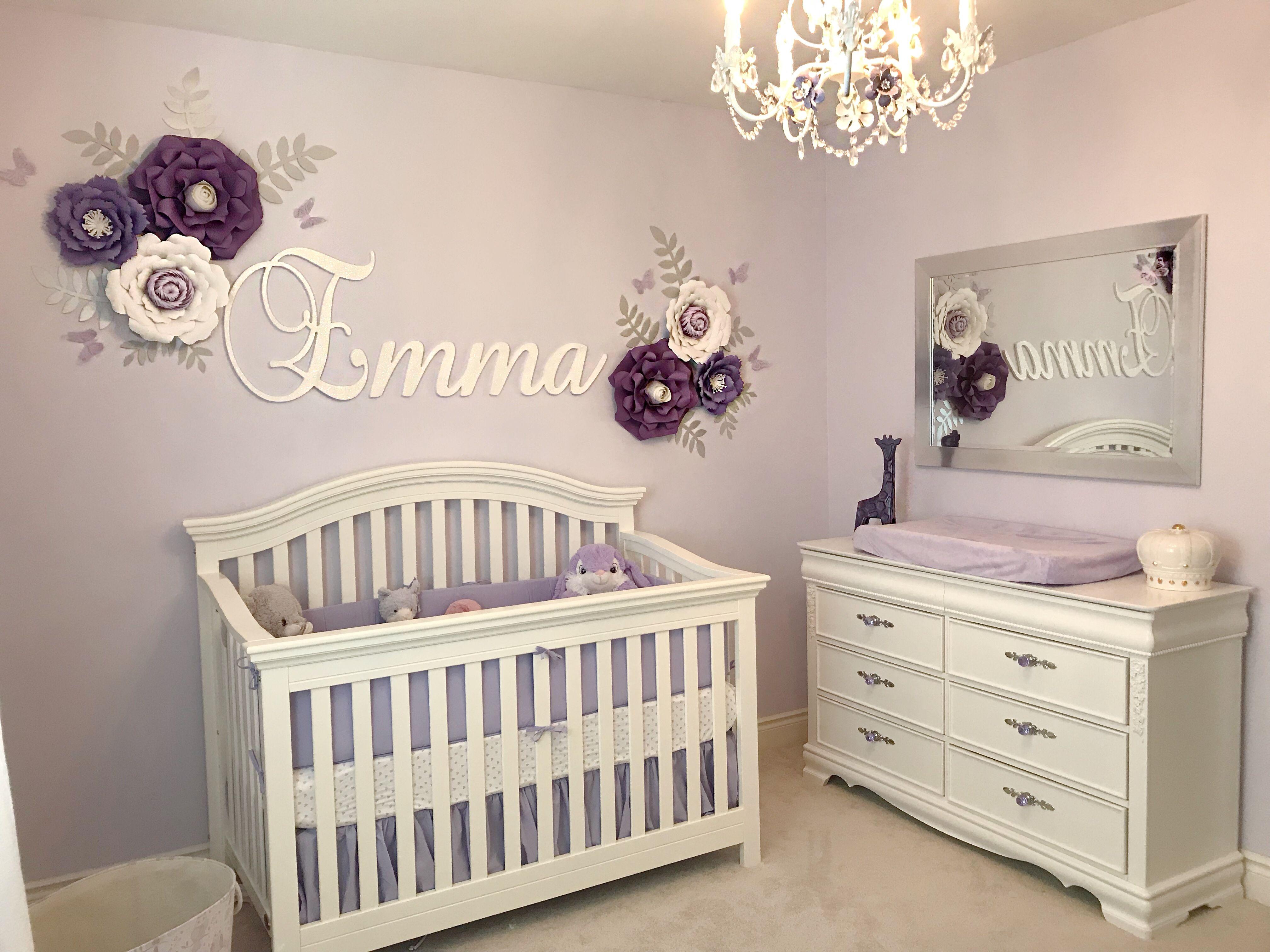Baby Girl Lilac Purple Nursery Purple Baby Rooms Girl Nursery Colors Baby Girl Nursery Purple