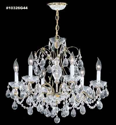 James R Moder 10326S44 Budget 6 Light Crystal Chandelier In Silver