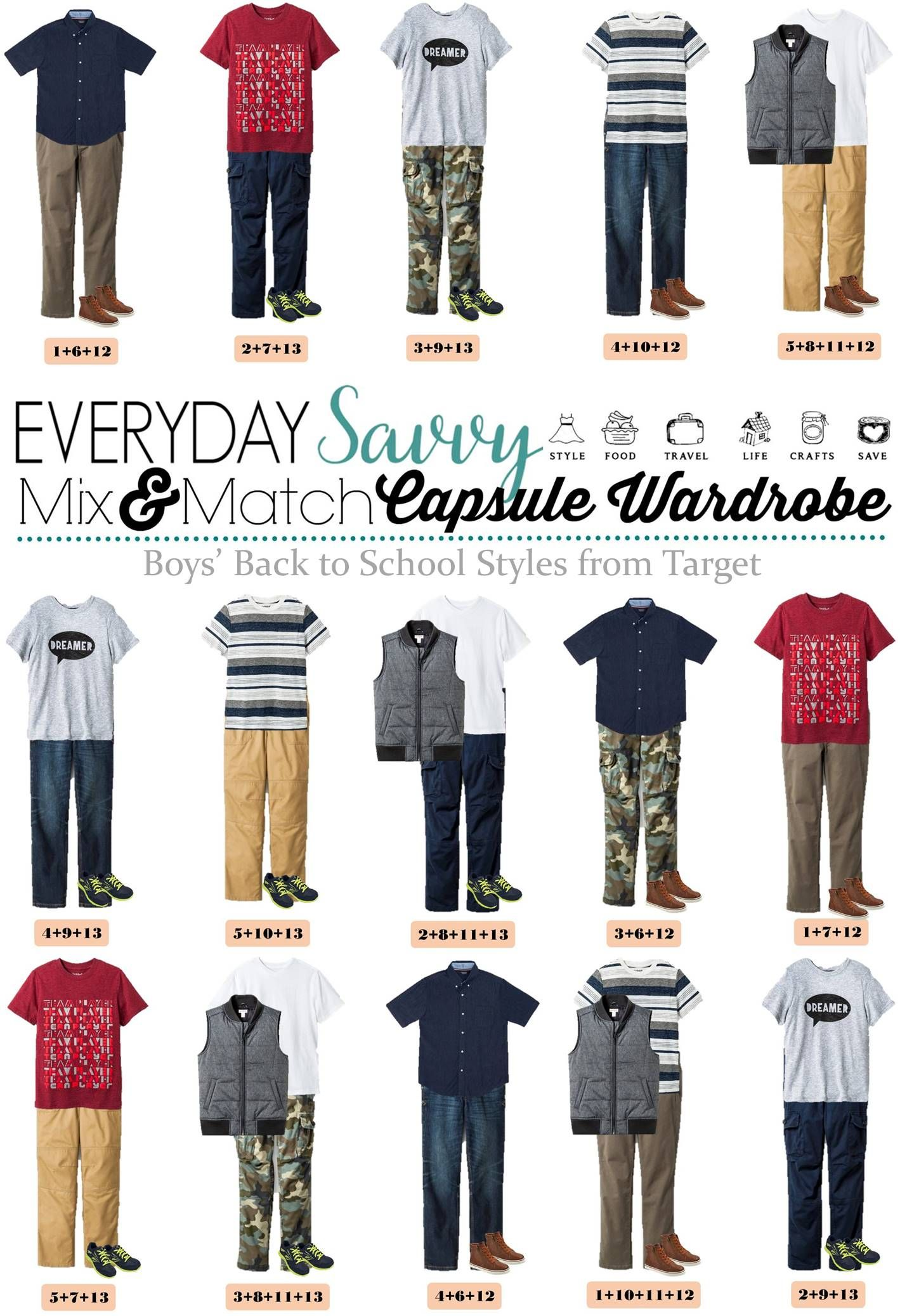 Boys Mix And Match Outfits For School Kids Clothes