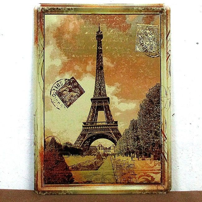 Eiffel Tower Metal decor painting vintage tin sign iron home decor ...