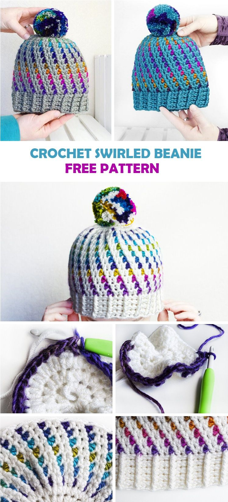 Photo of SWIRLED BEANIE – FREE CROCHET PATTERN