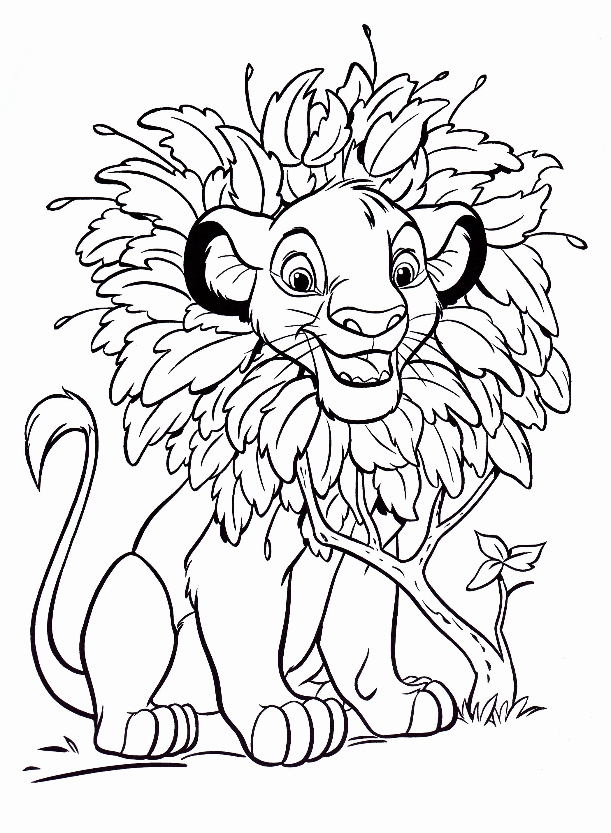 Disney princess coloring vanity case - The Lion King Coloring Kids Coloring Page