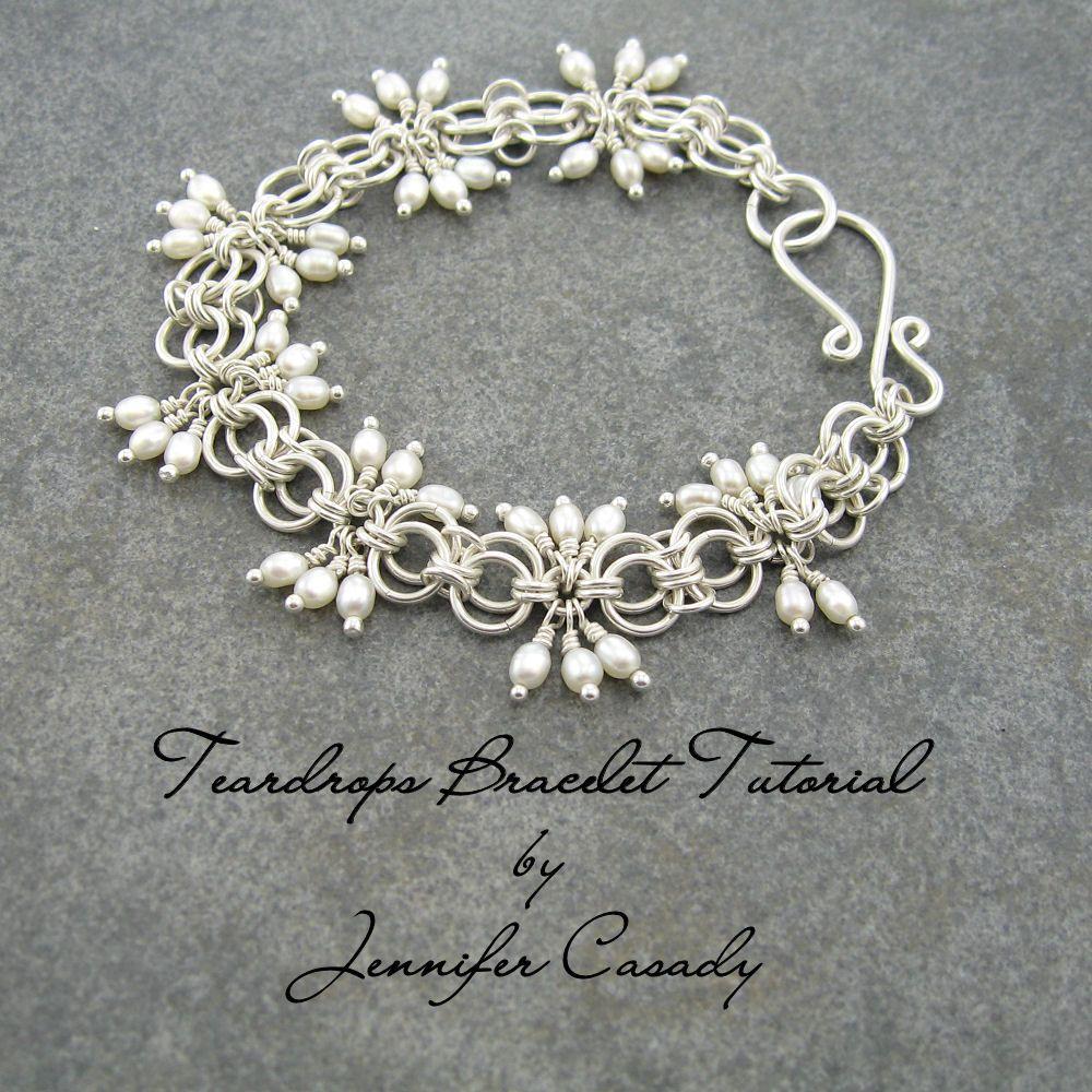 Jewelry by jennifer casady teardrops bracelet tutorial available
