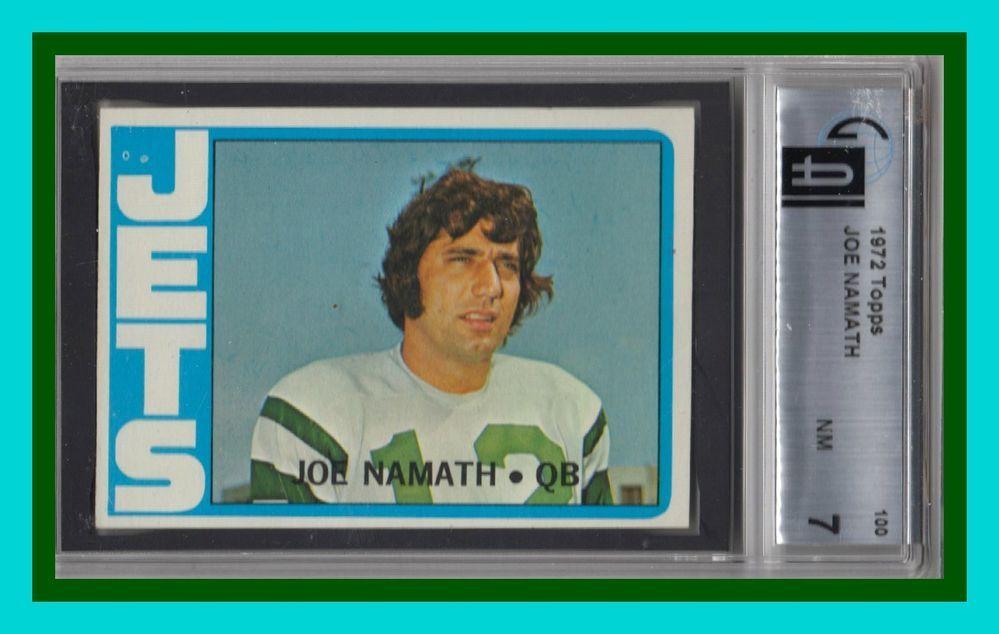 1972 topps 100 joe namath hof psa 7 nm a real beauty