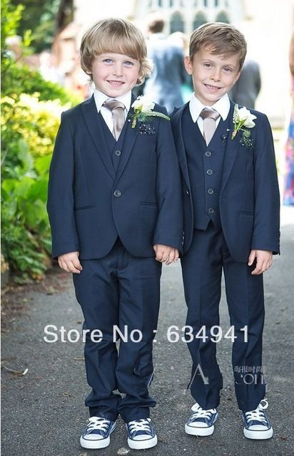 dd6cc9a7c navy blue tux ring bearer outfit - Cream vest to match groomsmen and ...