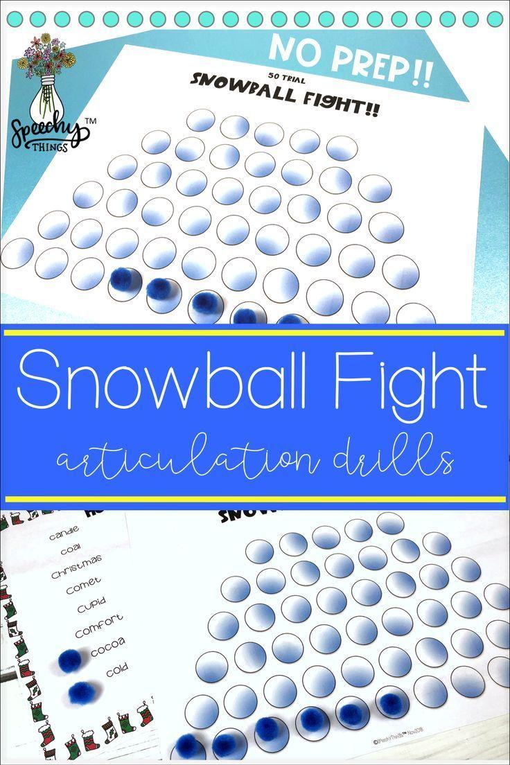 Snowball Fight Speech Therapy   #fight #snowball #Speech #speechtherapyarticulation