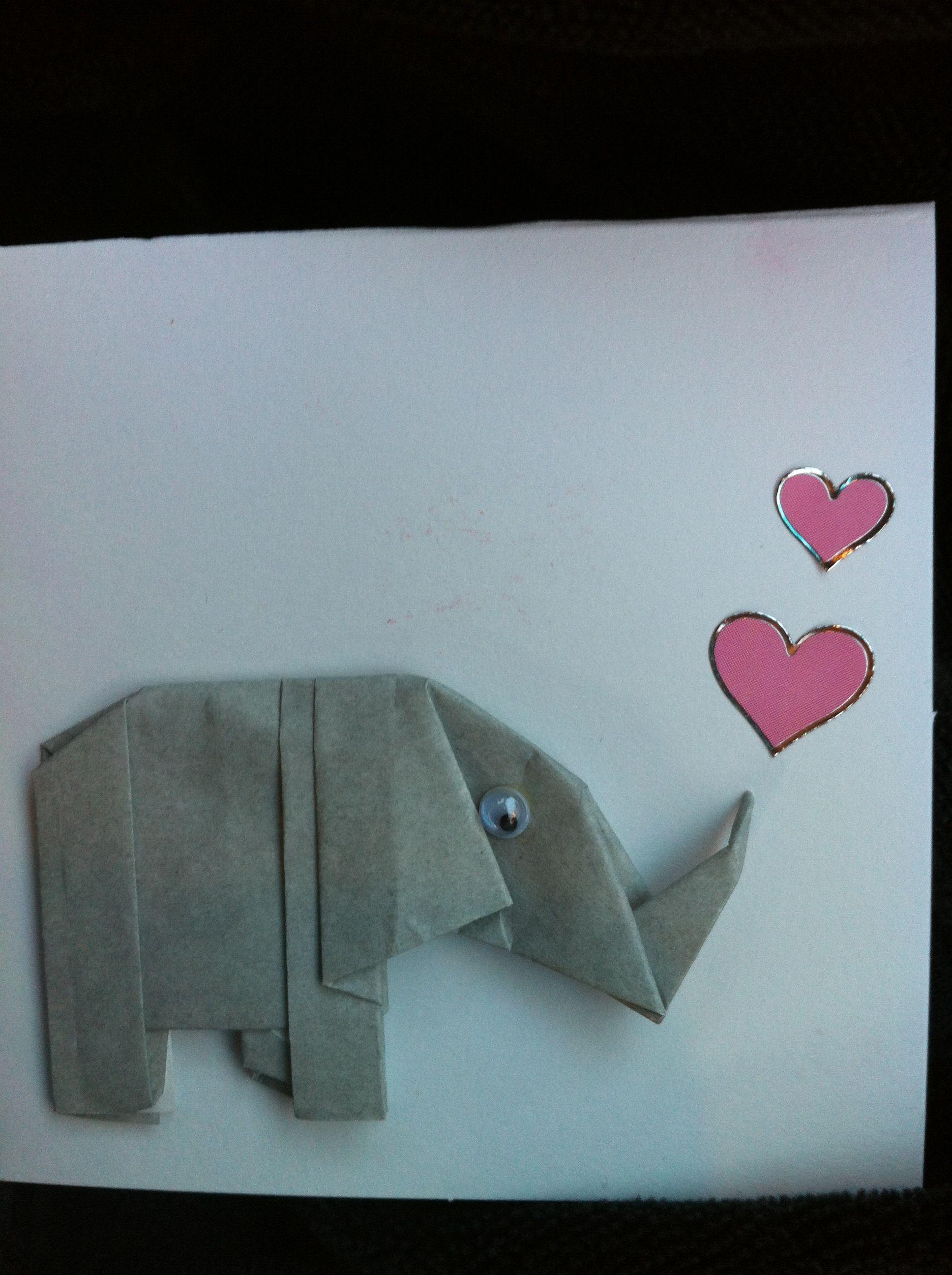 Kelan's elephant Valentine's Day cards
