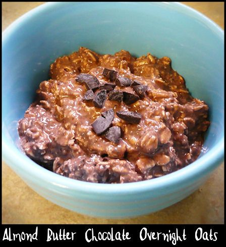 This was pretty tasty.  The more I ate, the more it grew on me.  I only did 1.5 tsp cocoa powder and that came out just the right balance between that and the almond butter for me.  Only problem I had; I stirred and stirred and shook the jar and still came out with a couple big lumps of almond butter left in there.  (Picture by me, linked to original recipe)
