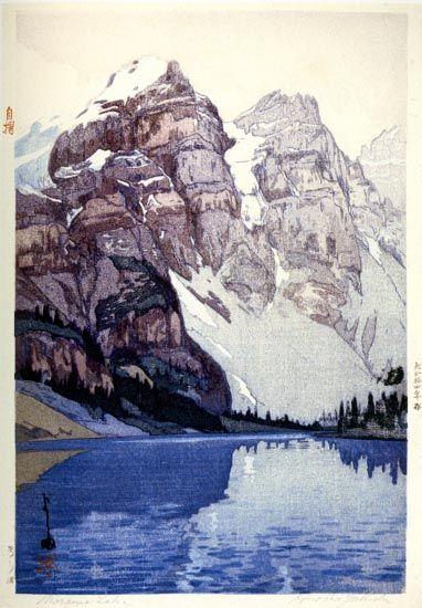 Moraine Lake  by Hiroshi Yoshida, 1925