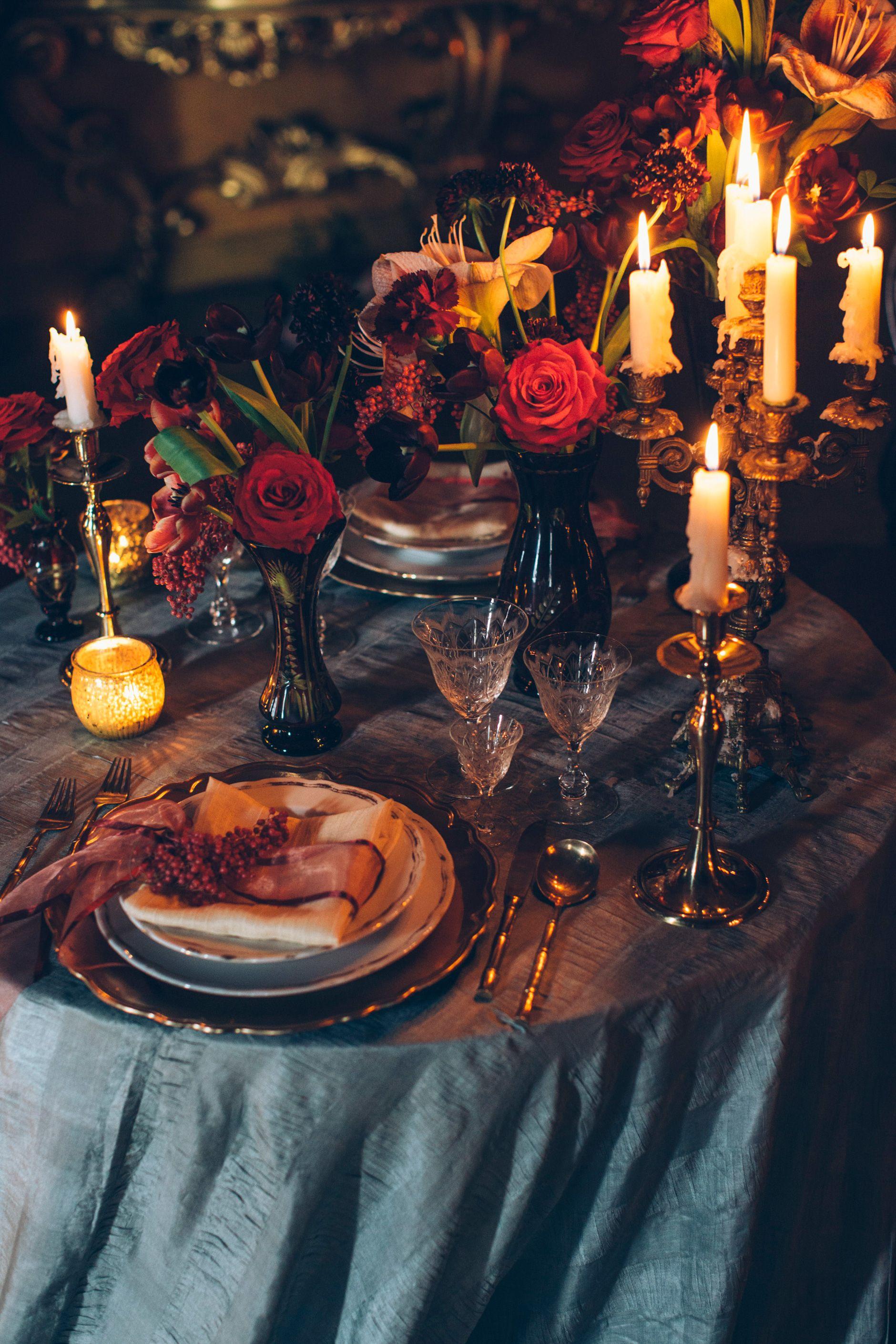 // EDITORIAL: Gothic Wedding Inspiration   Wedding table ...