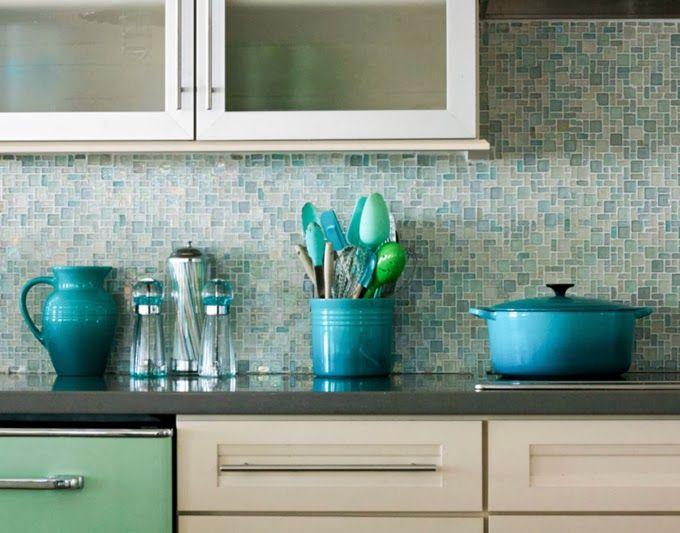 House Of Turquoise Mina Brinkey Photography Glass Mosaic Tile Backsplash Mosaic Tile Kitchen Glass Backsplash