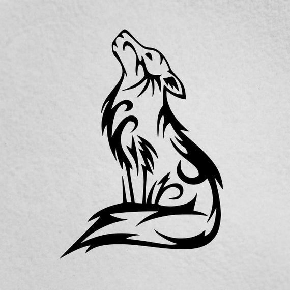 This Item Is Unavailable In 2020 Tribal Wolf Tattoo Tribal Wolf Howling Wolf Tattoo