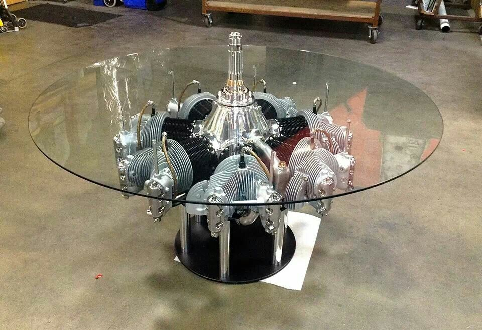 Continental Radial Engine Table by MotoArt.