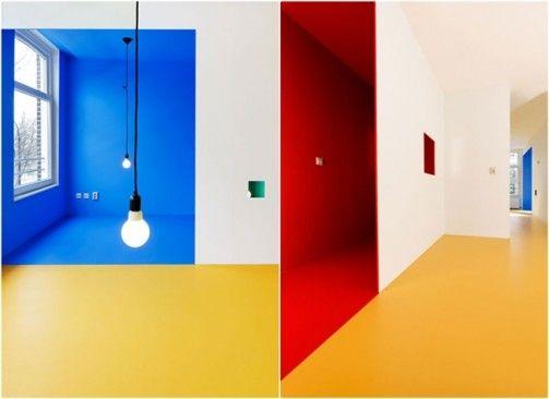 colorful modern interiors in karel appel house
