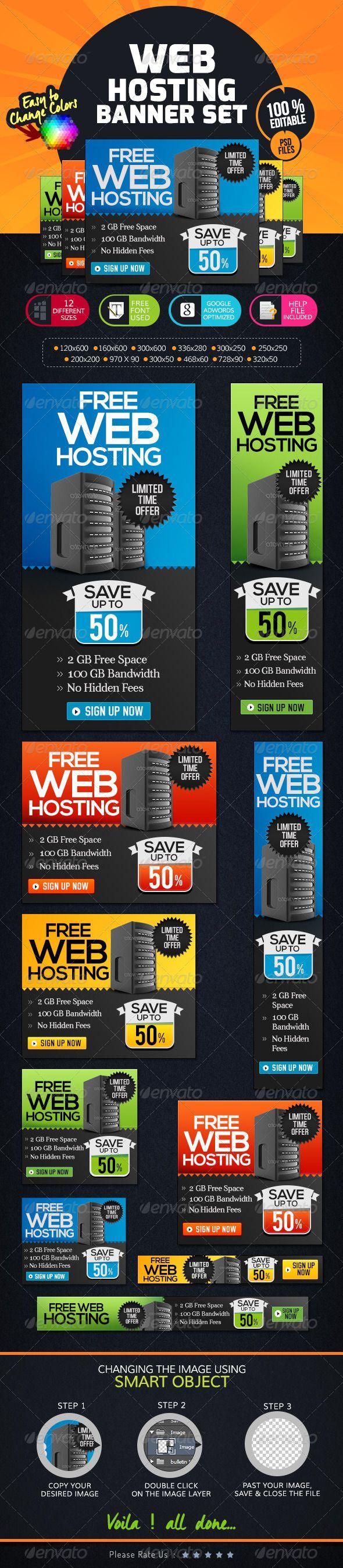 Free web hosting no banner - Web Hosting Banner Set