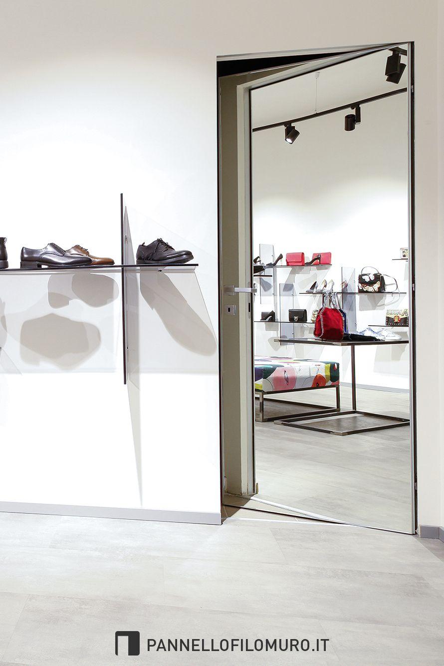 Porte Filo Muro Specchio una porta / specchio perfetta per qualsiasi negozio di