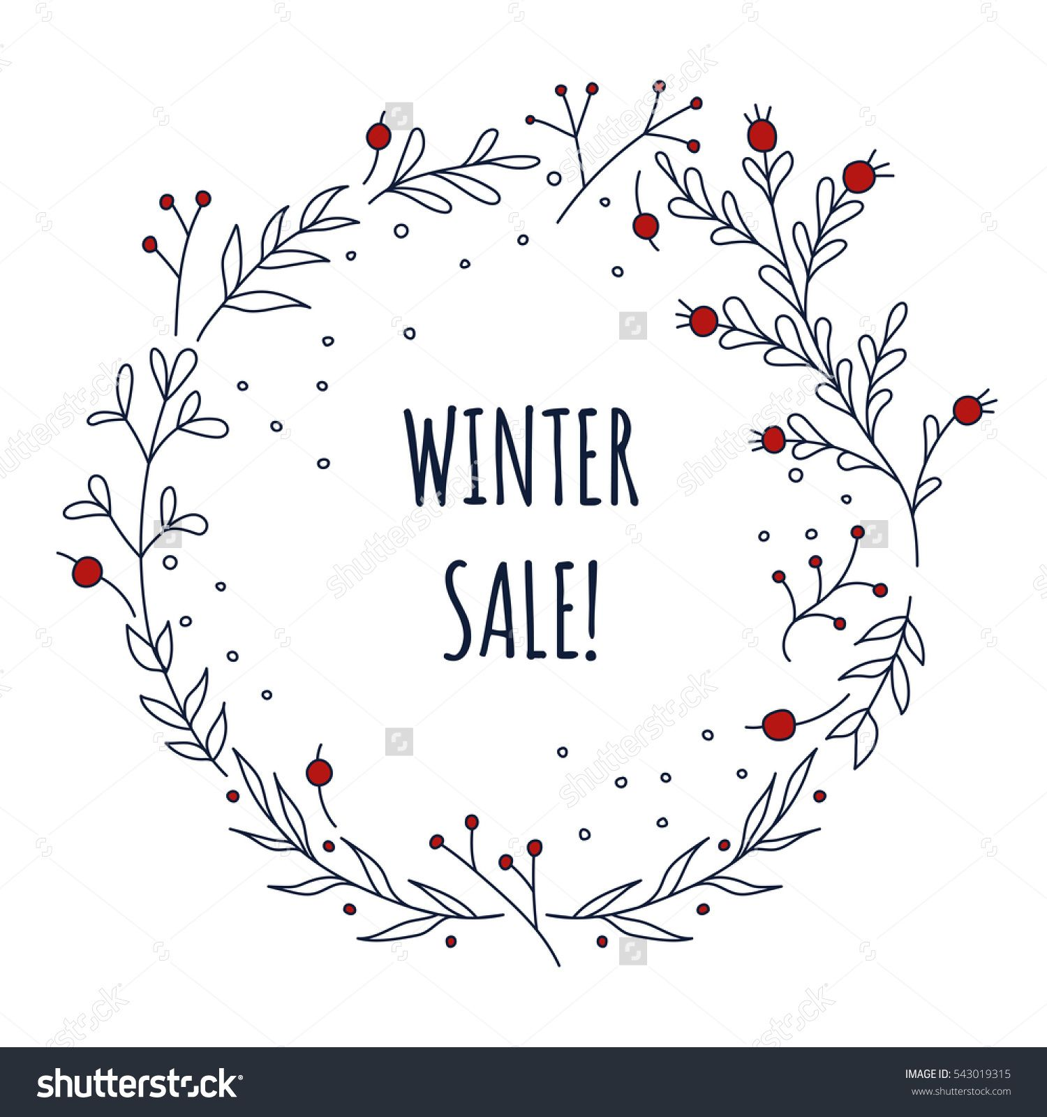 Photo of Christmas New Year Winter Sale Hand Stock Vector (Royalty Free) 543019315