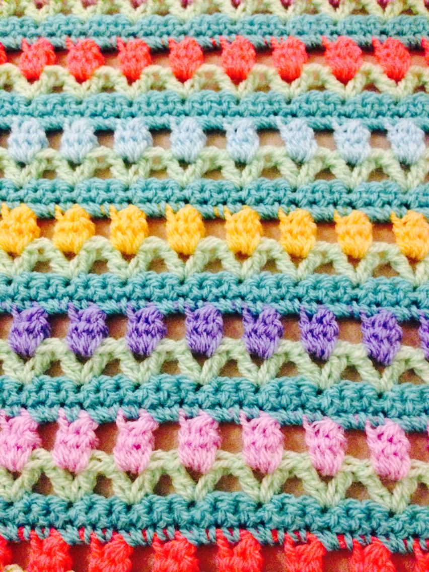 Tulip crochet stitch | Tığ işleri | Pinterest | Crochet stitches ...