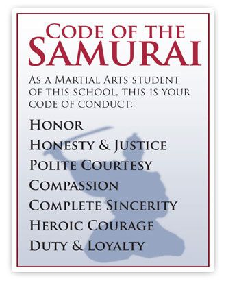 samurai code of conduct - Google Search In the Shadow of the - code of conduct example