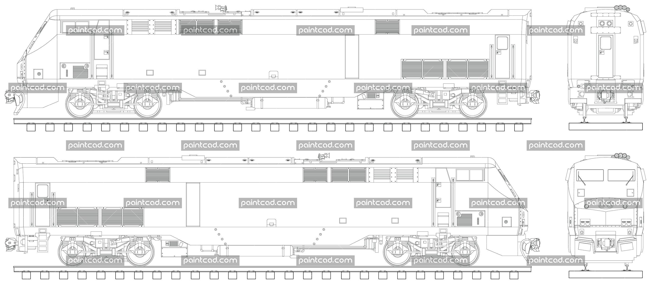 small resolution of american diesel electric locomotive p42dc by amtrak train