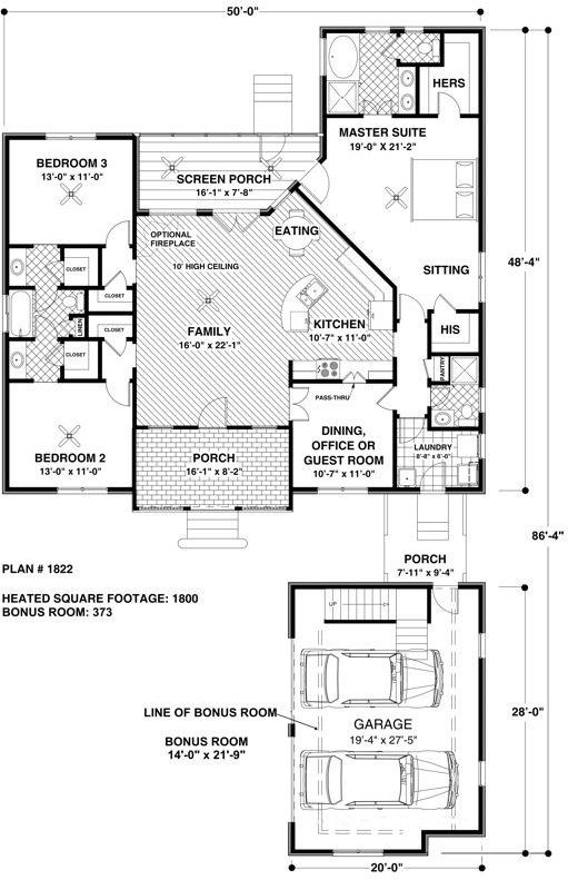 3 Bedroom 3 Bath Coastal House Plan Alp 022y Bathroom Floor Plans Floor Plans House Plans
