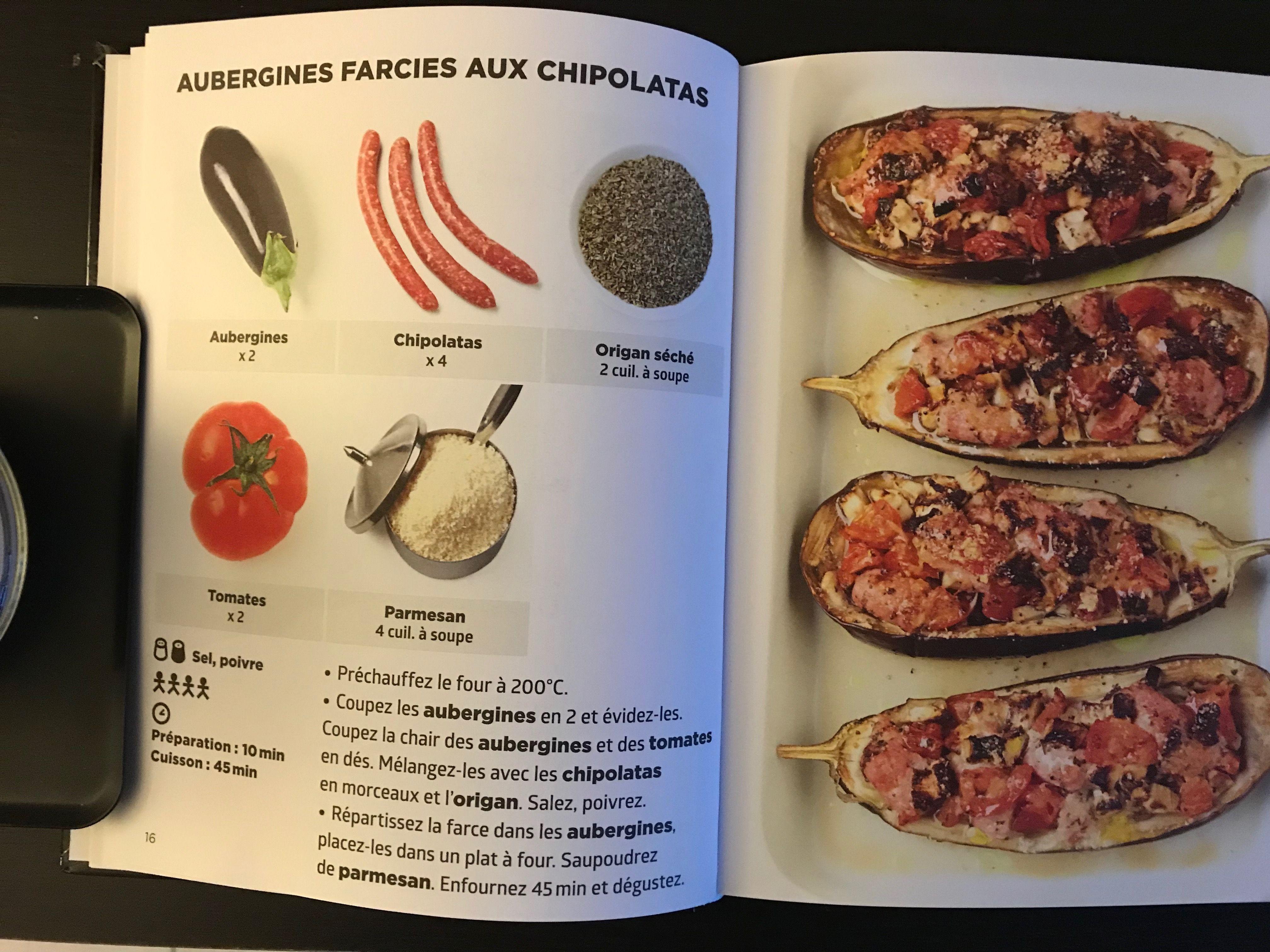 Simplissime Aubergines Farcies Chipolatas Recettes De Cuisine Recette Cuisine Simplissime