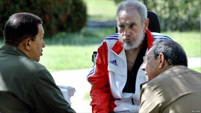 Fidel Castro: A life in pictures #cubanleader Former Cuban leader Fidel Castro listens during a meeting with his brother Cuban President Raul Castro and Venezuela's President Hugo Chavez in Havana, 18 June 2008. #cubanleader Fidel Castro: A life in pictures #cubanleader Former Cuban leader Fidel Castro listens during a meeting with his brother Cuban President Raul Castro and Venezuela's President Hugo Chavez in Havana, 18 June 2008. #cubanleader Fidel Castro: A life in pictures #cubanleader Form #cubanleader