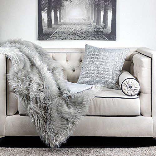 Homey Cozy Crow Heavy Long Fur Throw Blanket Fluffy Faux