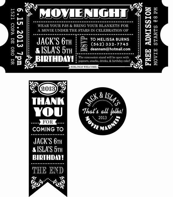 Movie Ticket Invitation Template Free New Blank Movie