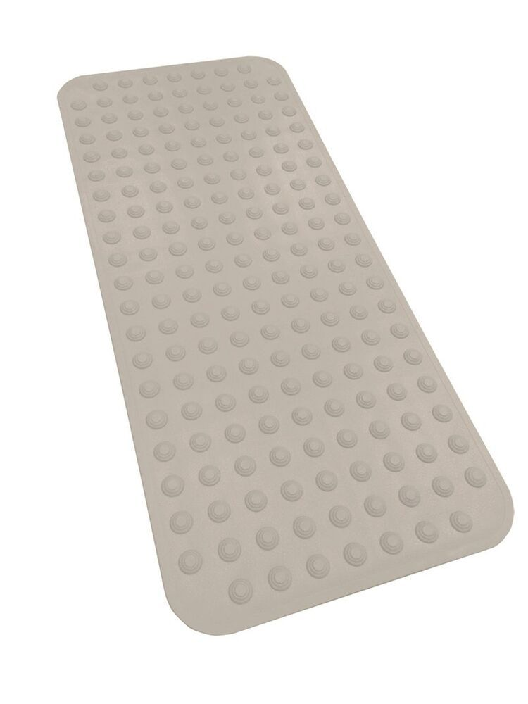 Extra Long Rubber Bath Mat Non Slip 40 X 17 5 Suction Cups