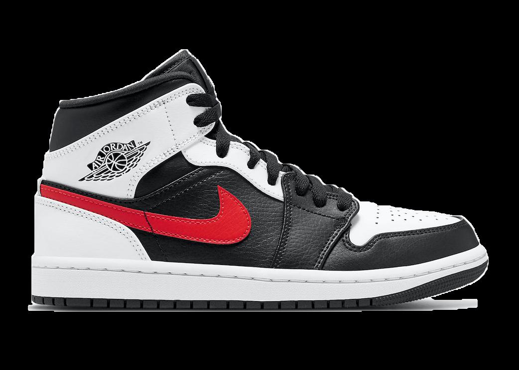 Jordan 1 Mid Black Chile Red White Air Jordans Jordan Shoes Girls Sneakers Men Fashion