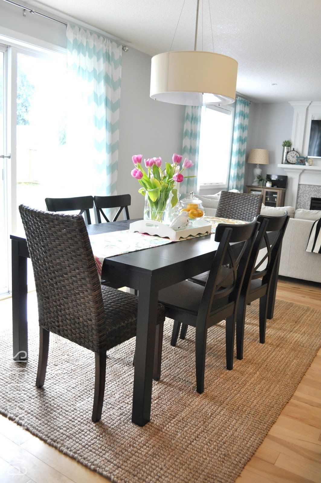 Suburbs Mama Dining Area Third Times The Charm  Interior Prepossessing Rug Under Kitchen Table Design Inspiration