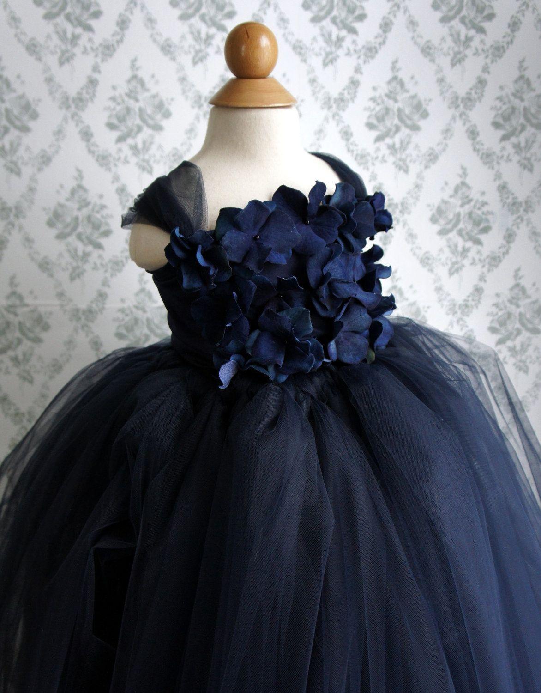Flower girl dress navy blue tutu dress girls dress flower top flower girl dress navy blue tutu dress flower top baby tutu dress toddler tutu dress 7000 via etsy izmirmasajfo