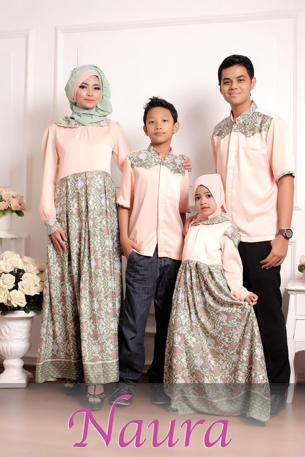 Baju Gamis Batik Kombinasi Brokat  Ragam Muslim  Model pakaian