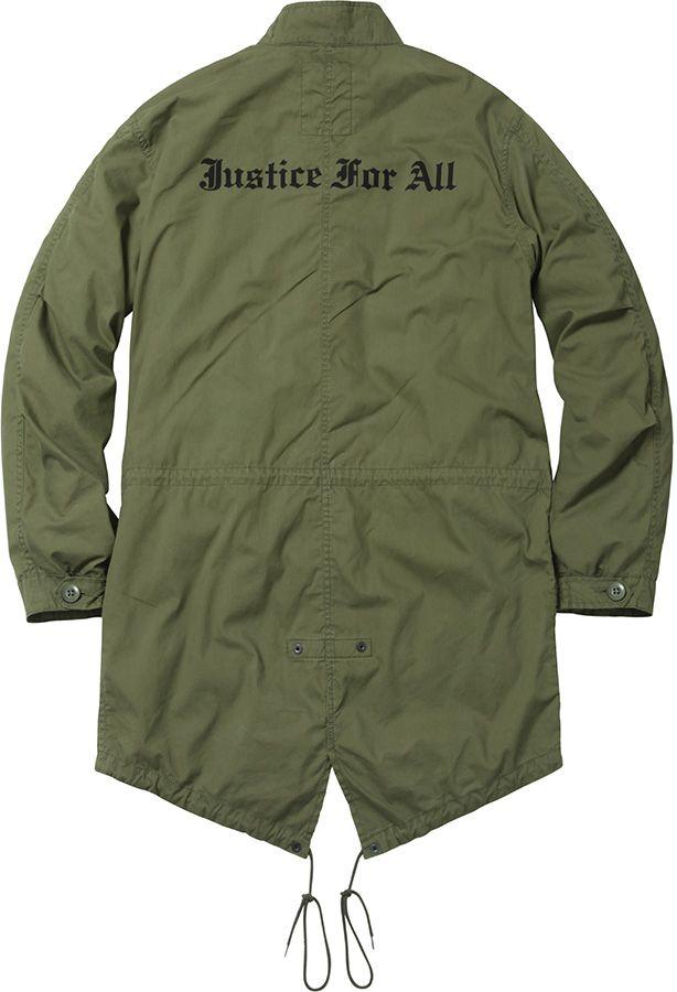 detailed look 08ec8 5d545 Supreme fishtail parka jacket