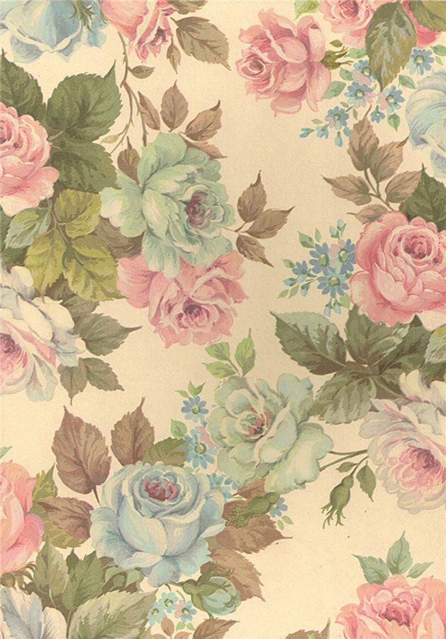 wallpaper flores vintage