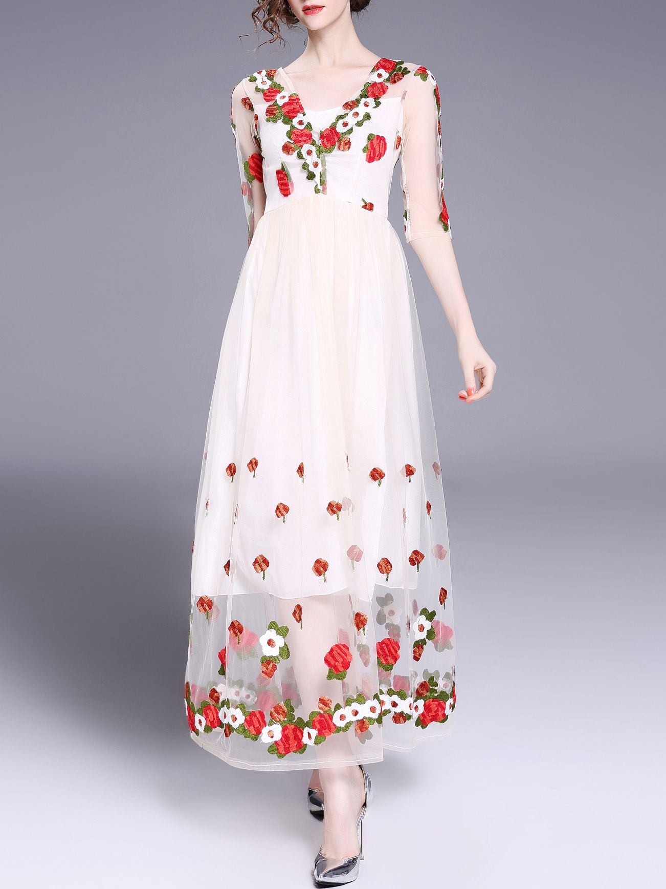 d401df8c17 Flowers Gauze Embroidered Maxi Dress sold by URBANE OUTFITTERS. Shop more  products from URBANE OUTFITTERS on Storenvy, the home of independent small  ...