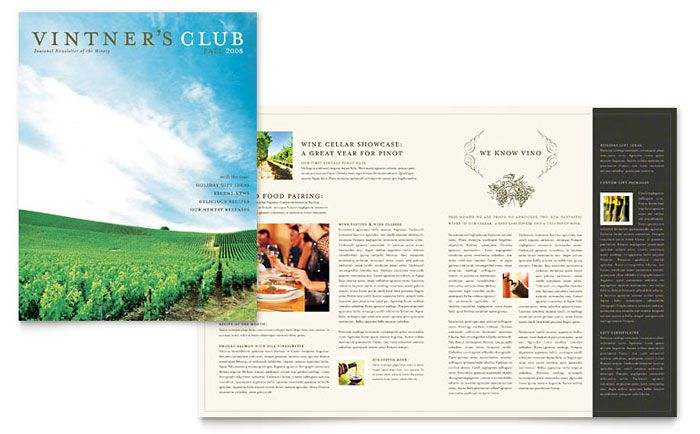 Vineyard And Winery Newsletter Design Template By Stocklayouts