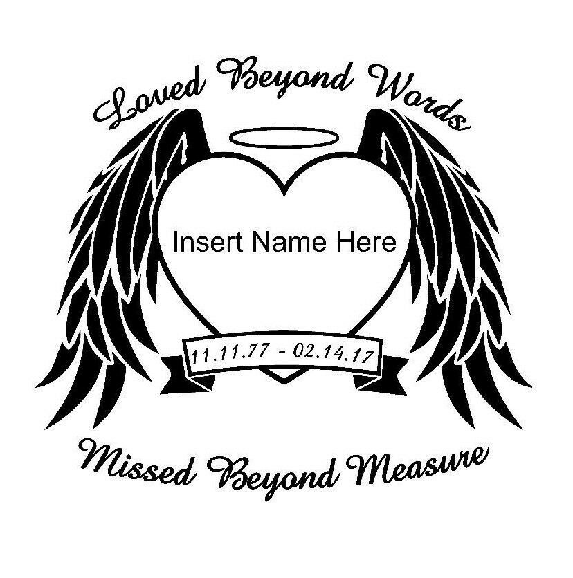In Loving Memory Of Angel Window Decal Personalized Car