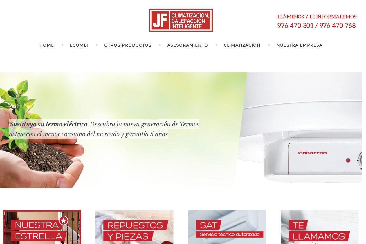 Diseño web para JF instalaciones. #zesis #diseñoweb #marketing #zaragoza