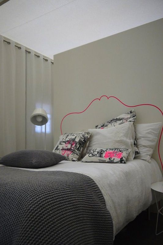 Ordinary Painted Headboard Ideas Part - 8: Idea: Outlined Headboard - Because Im Addicted