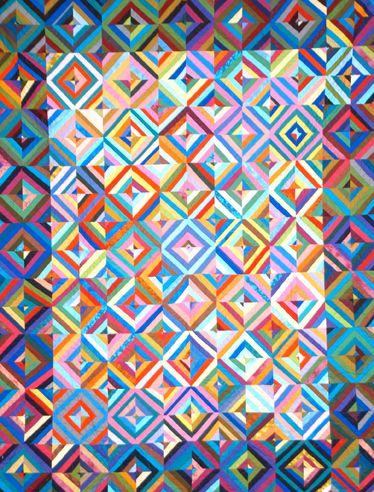Michael James' String-Diamond quilt. I like the dark border effect.