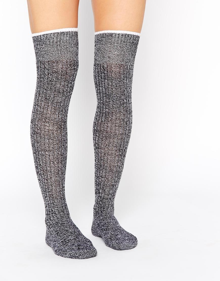Calcetines por encima de la rodilla en mezcla de tejidos de | Things ...