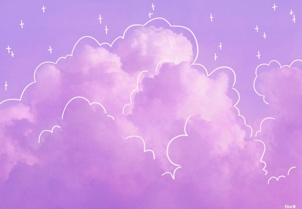 Asthetic Clouds Chill Asthetic Clouds Cute Pink Purple